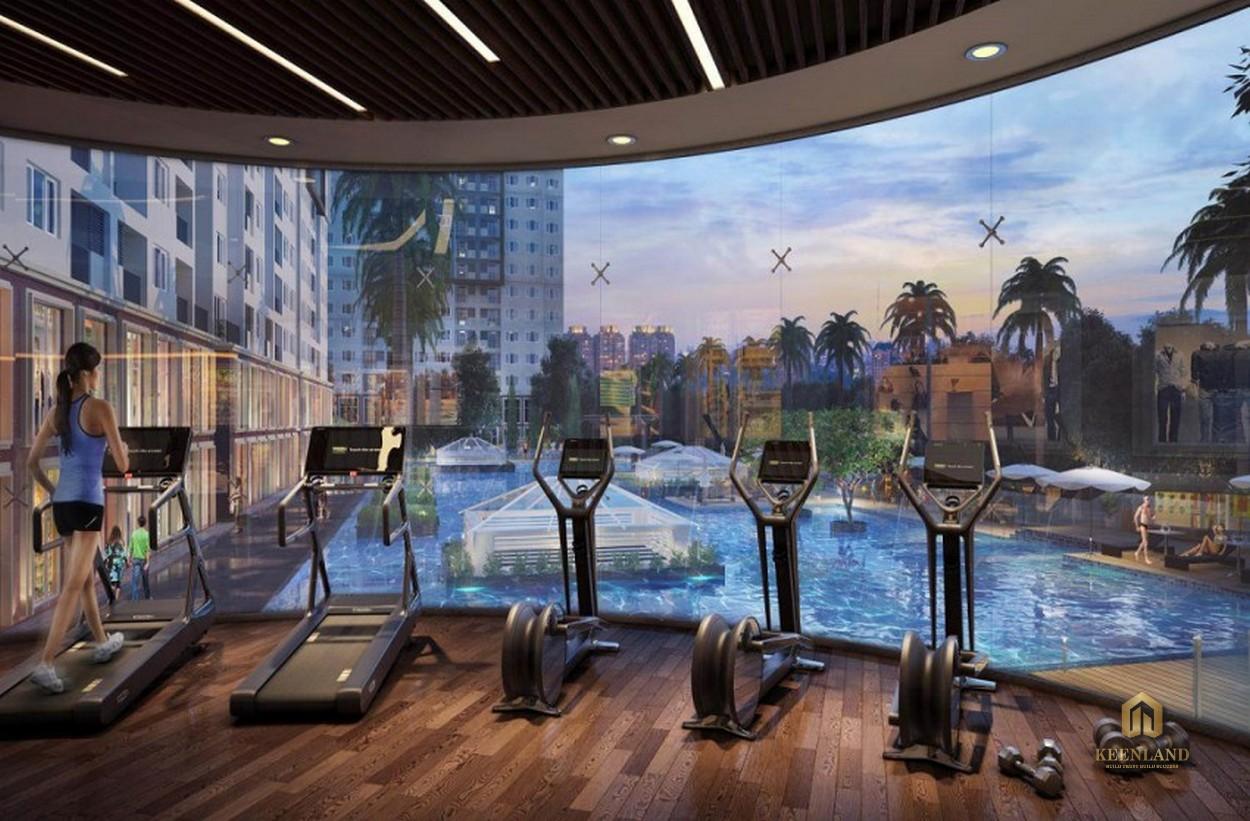 Phòng gym hiện đại tại dự án Grand Central quận 3