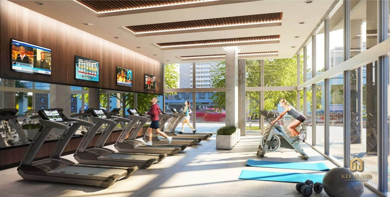 Phòng gym nội khu dự án Indochina Park Tower