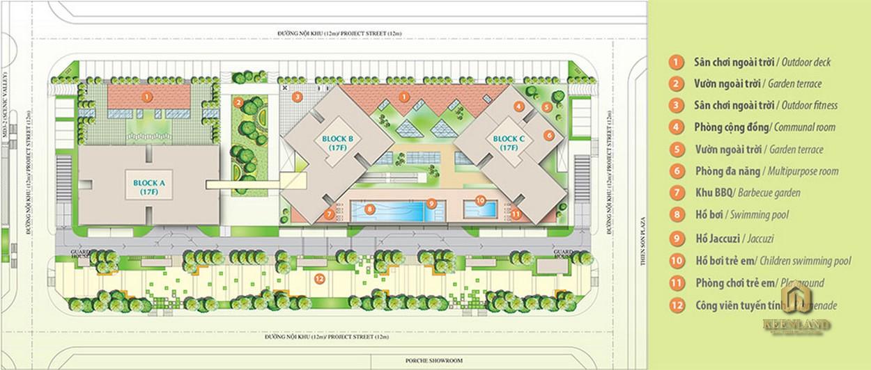Sơ đồ tiện ích nội khu dự án Scenic Valley 2 Quận 7