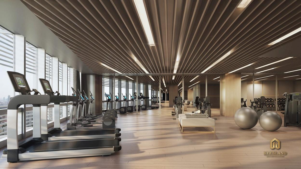 Phòng gym hiện đại - Tiện ích nội khu dự án The Vertex Private Residence