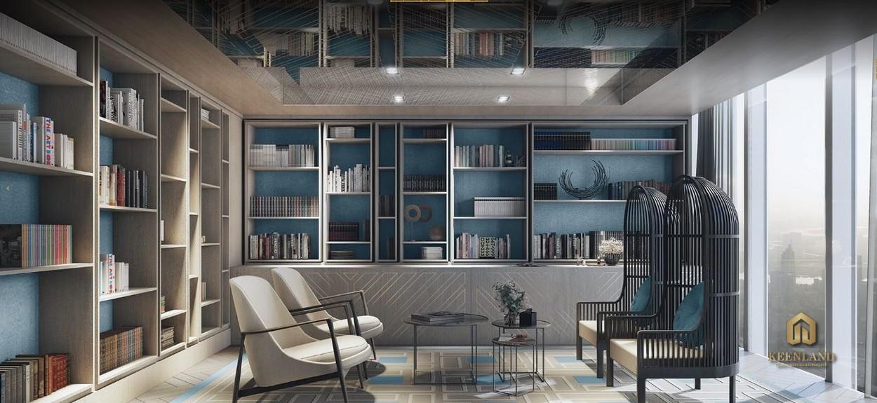 Thư viện cao cấp - Tiện ích nội khu dự án The Vertex Private Residence