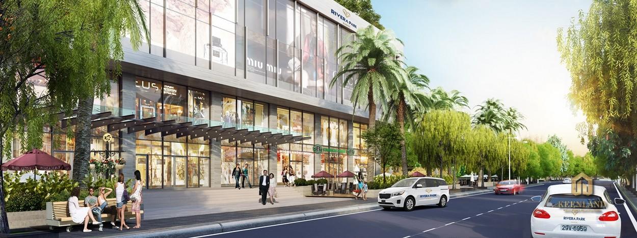 Trung tâm thương mại tại dự án Rivera Park Sài Gòn