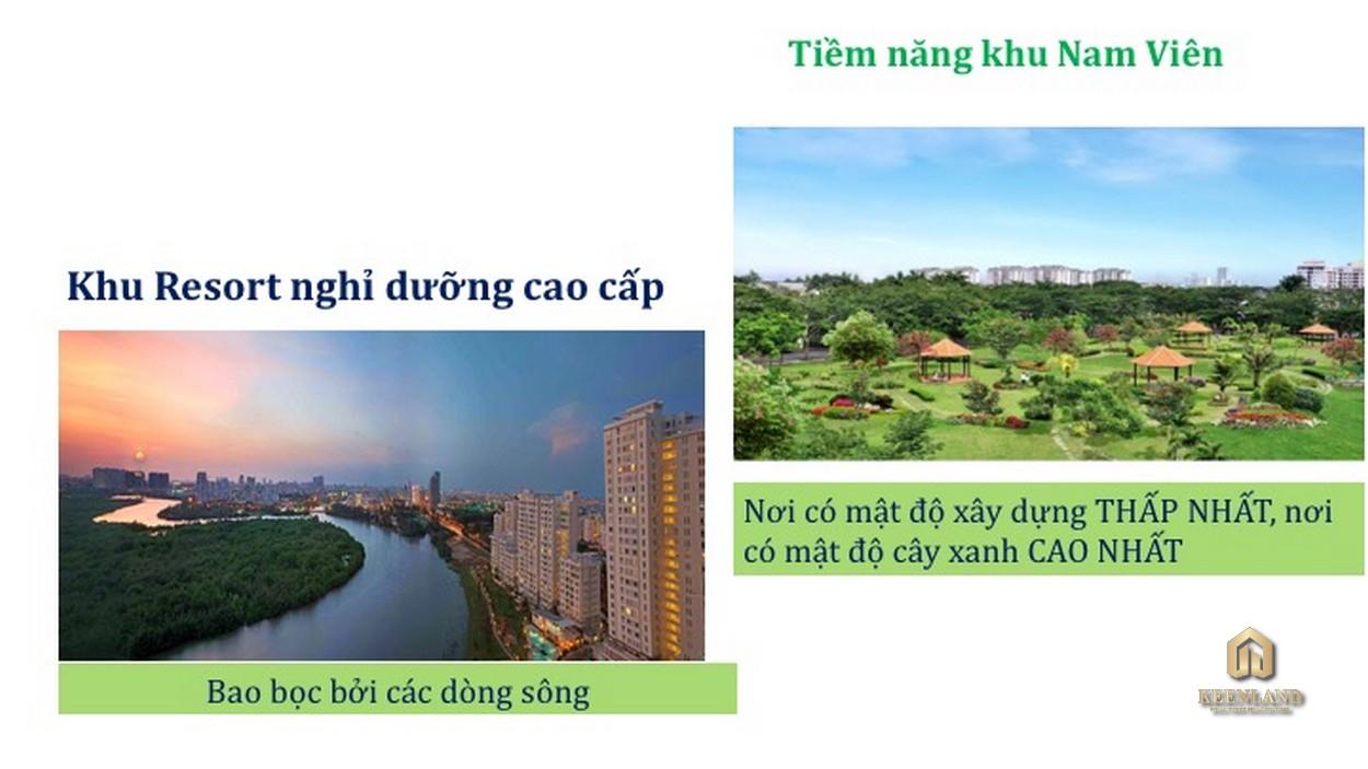 Công viên thủy cảnh Nam Viên - Bán đảo xanh khu đô thị Phú Mỹ Hưng