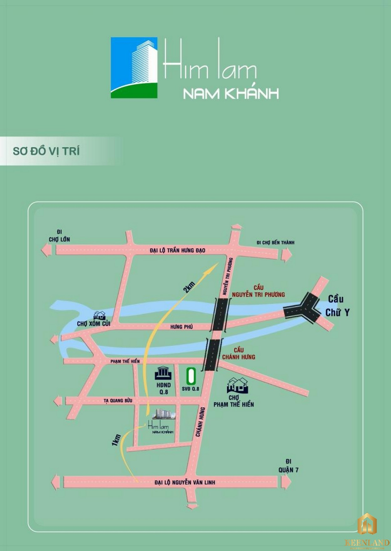 Vị trí dự án Him Lam Nam Khánh