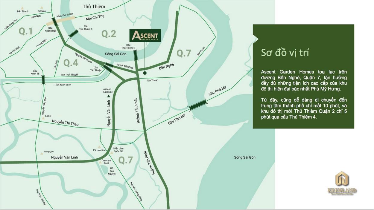 Vị trí dự án Ascent Garden Homes Quận 7