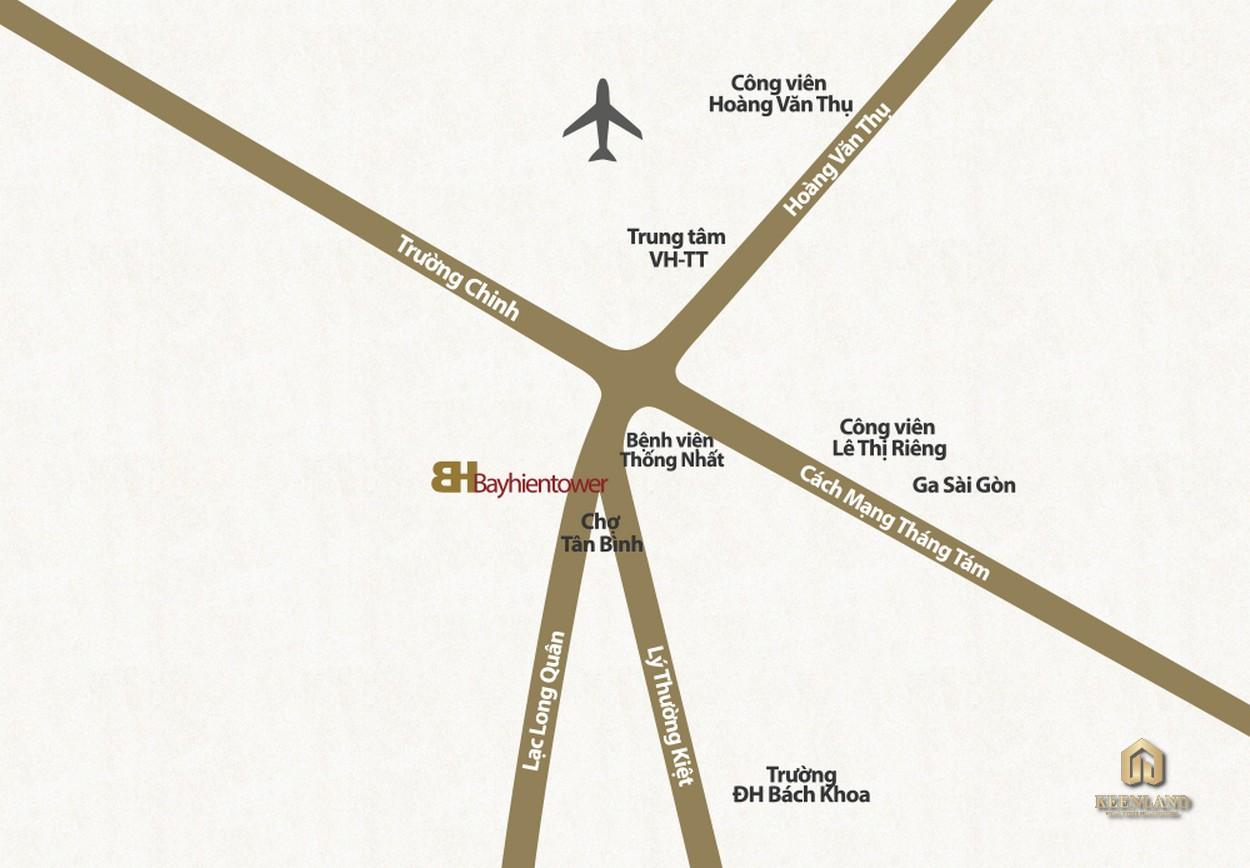 Vị trí dự án căn hộ Bảy Hiền Tower