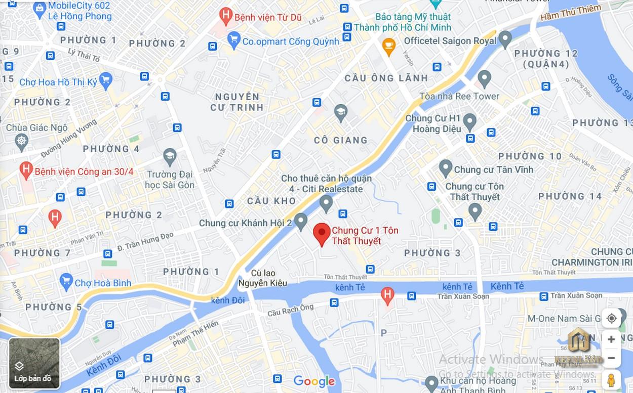 Vị trí dự án căn hộ chung cư Tôn Thất Thuyết