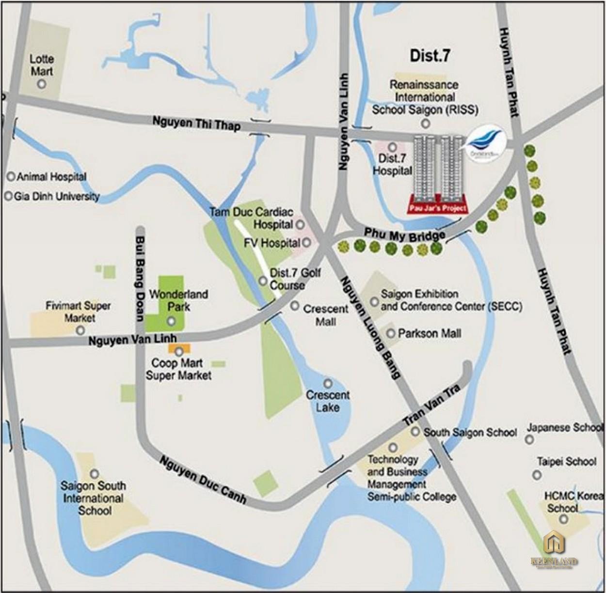 Vị trí dự án Docklands Saigon Quận 7