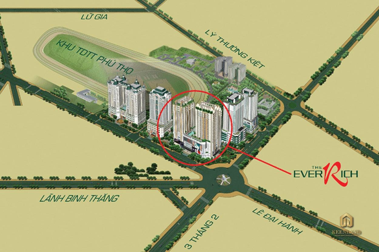 Vị trí dự án căn hộ The EverRich 1