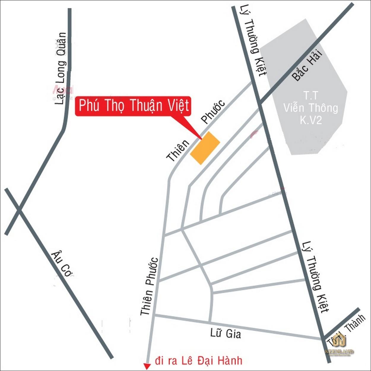 Vị trí dự án Thuận Việt