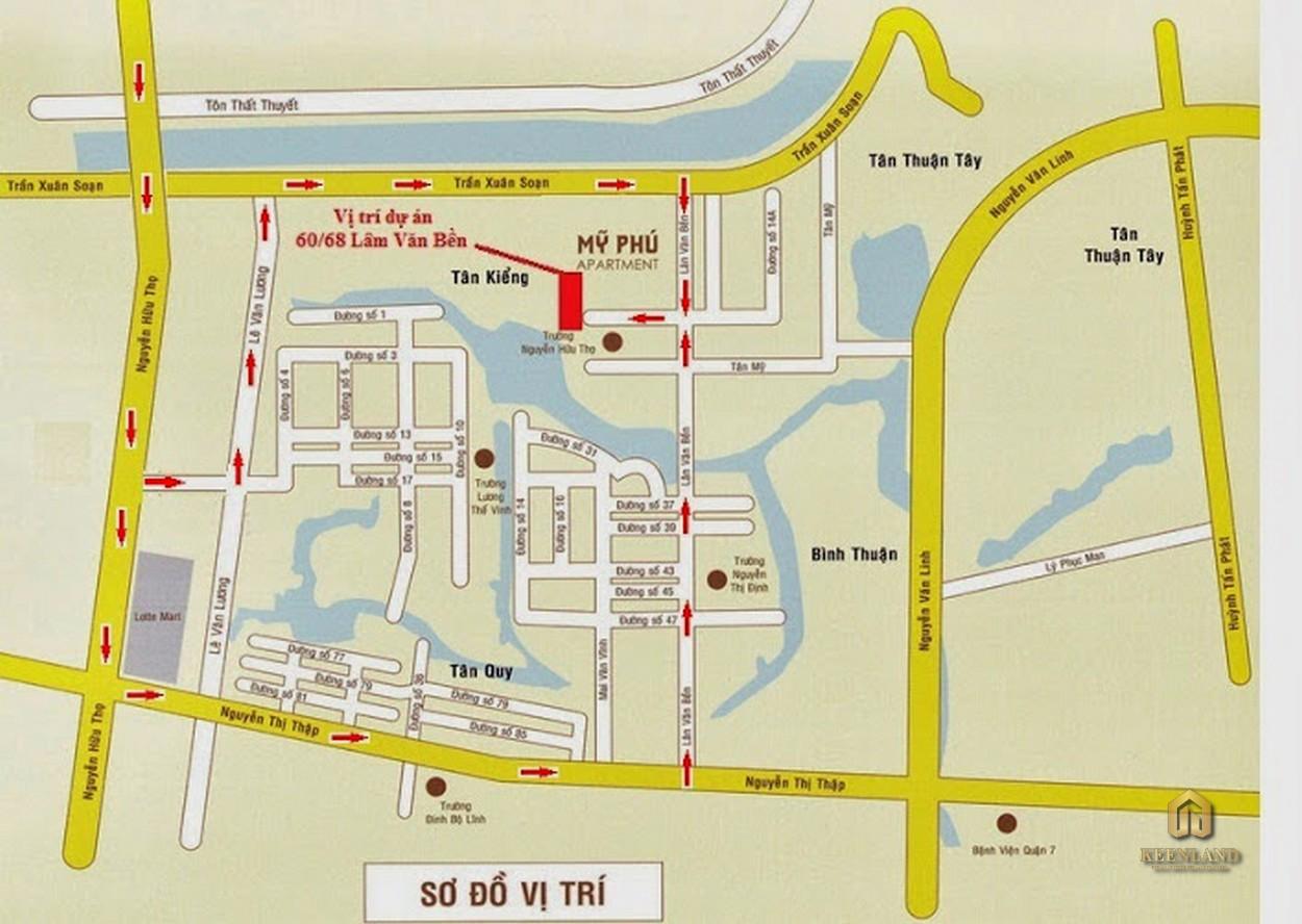 Vị trí dự án chung cư Mỹ Phú Quận 7