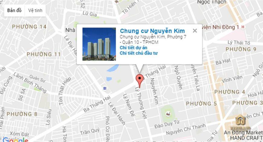 Vị trí dự án chung cư Nguyễn Kim