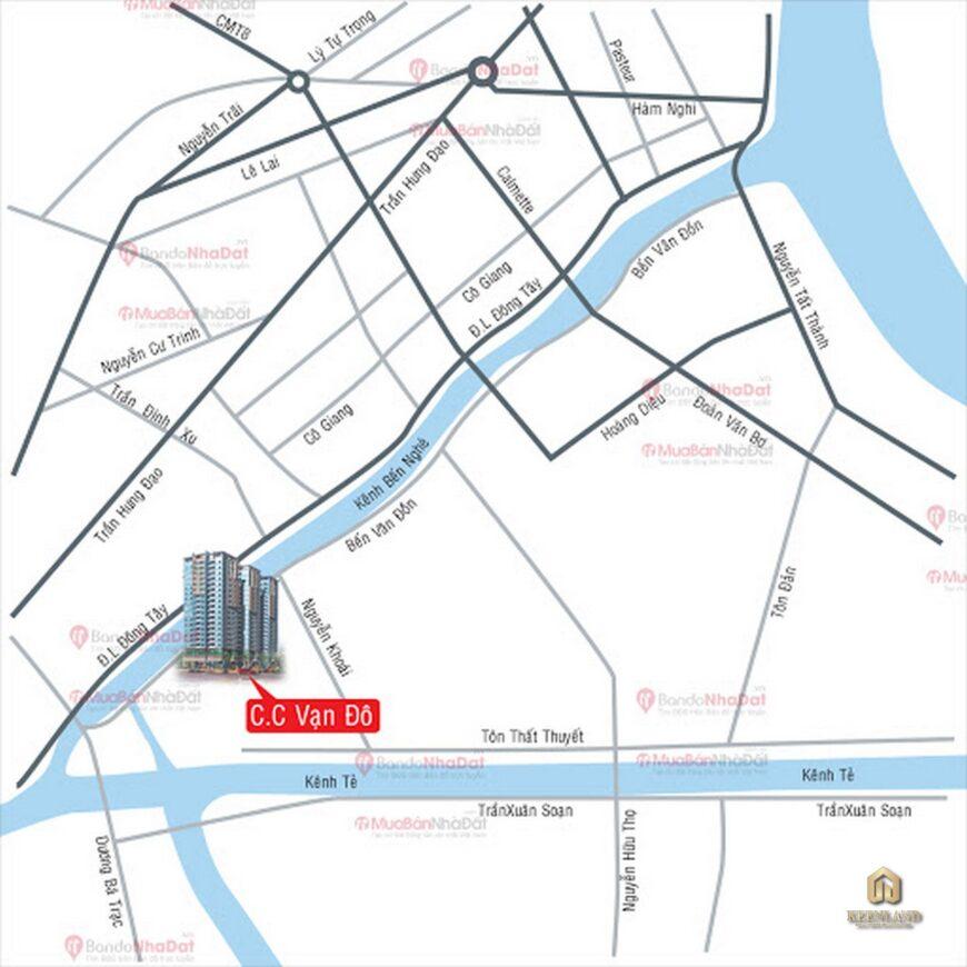 Vị trí dự án chung cư chung cư Vạn Đô Quận 4