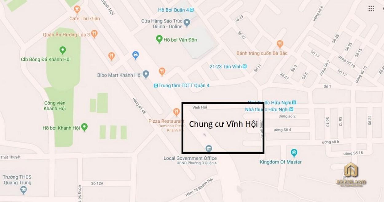 Vị trí dự án chung cư Vĩnh Hội