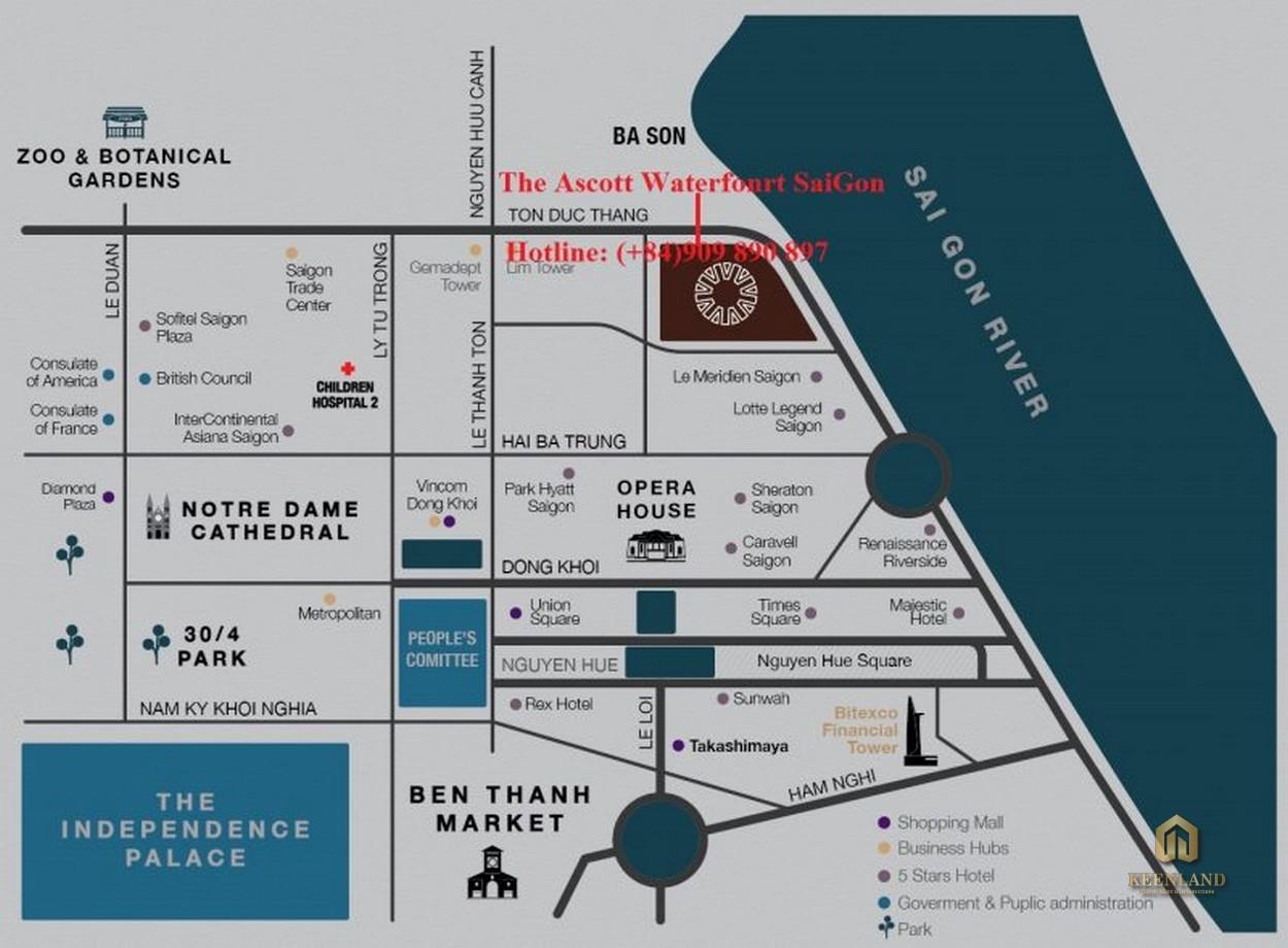 Vị trí dự án Ascott Waterfront Saigon
