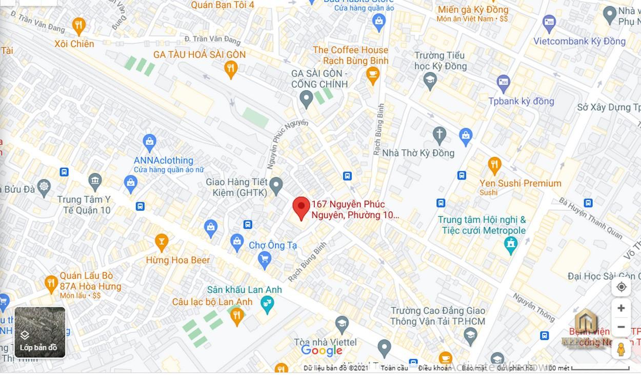 Vị trí dự án căn hộ cao ốc Nguyễn Phúc Nguyên