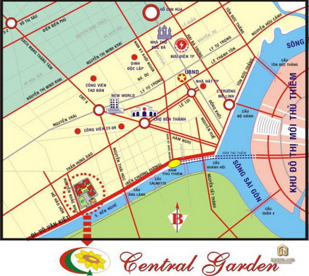 Vị trí dự án Central Garden Quận 1