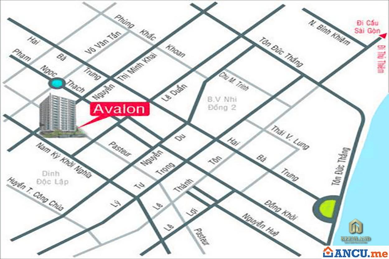 Vị trí dự án Avalon Saigon