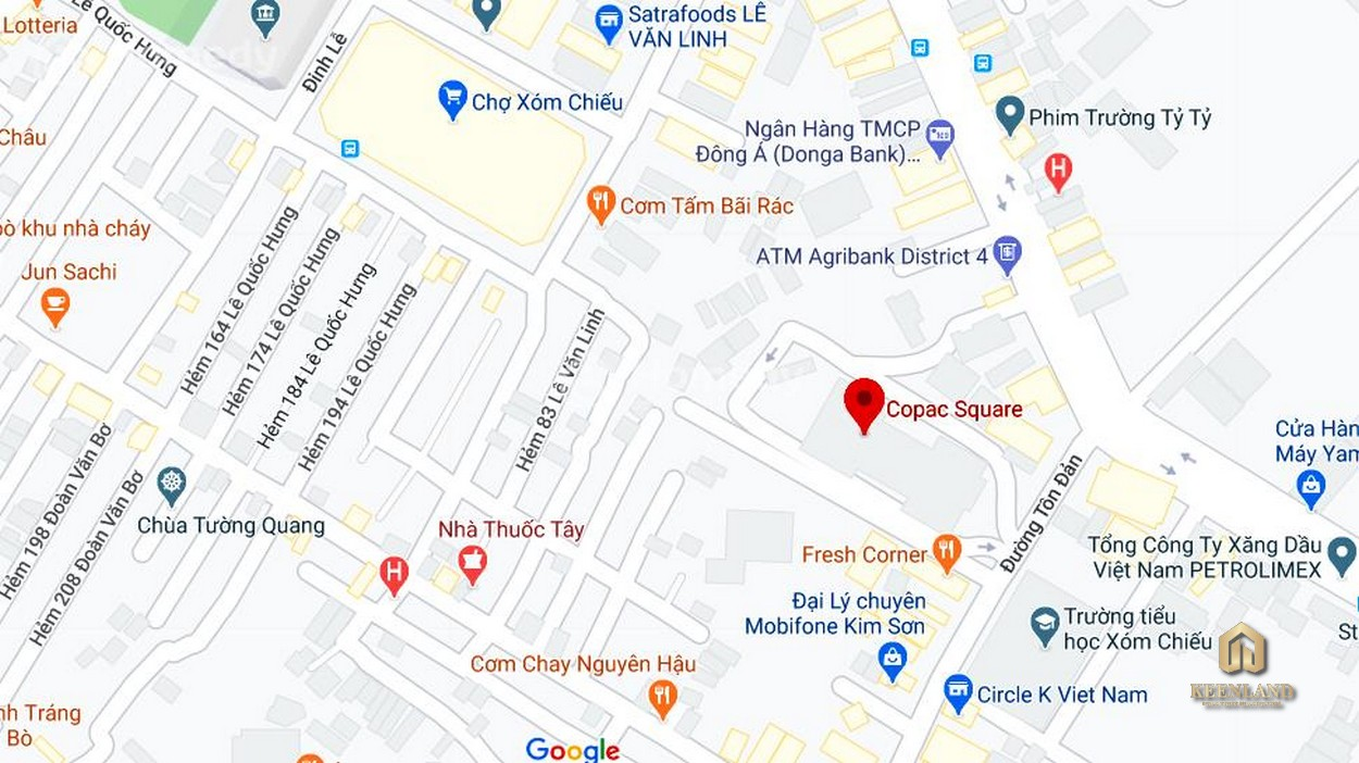 Vị trí dự án căn hộ chung cư Copac Square Quận 4