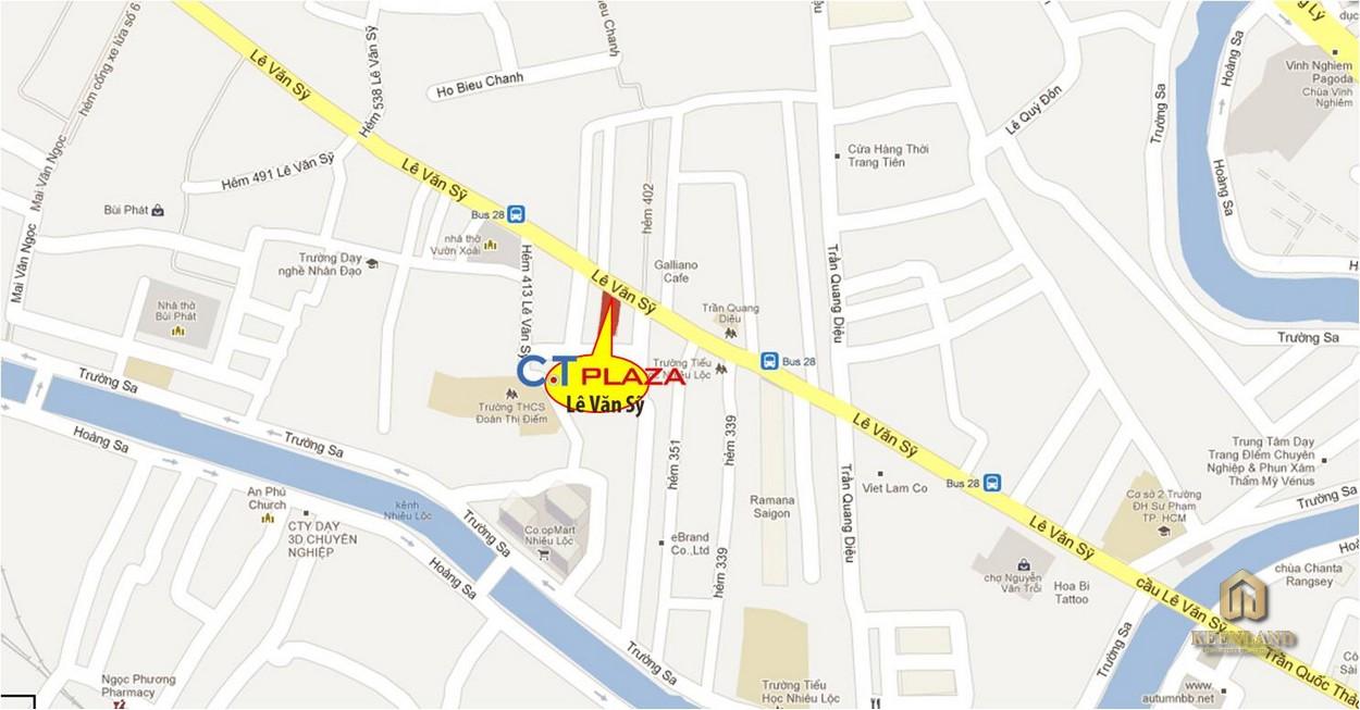 Vị trí dự án C.T Plaza Minh Châu Quận 3
