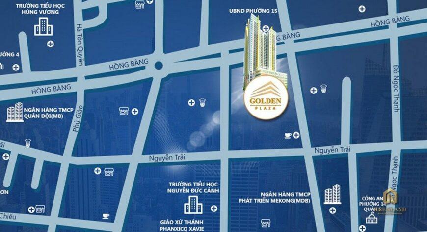 Vị trí dự án Golden Plaza Quận 5