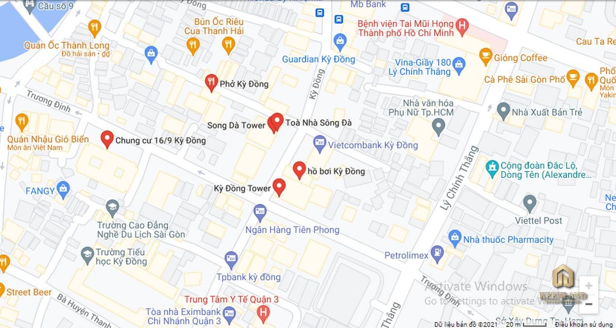 Vị trí dự án căn hộ Kỳ Đồng Tower
