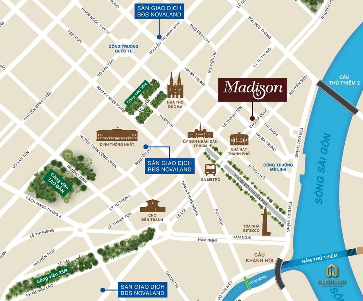 Vị trí dự án The Madison