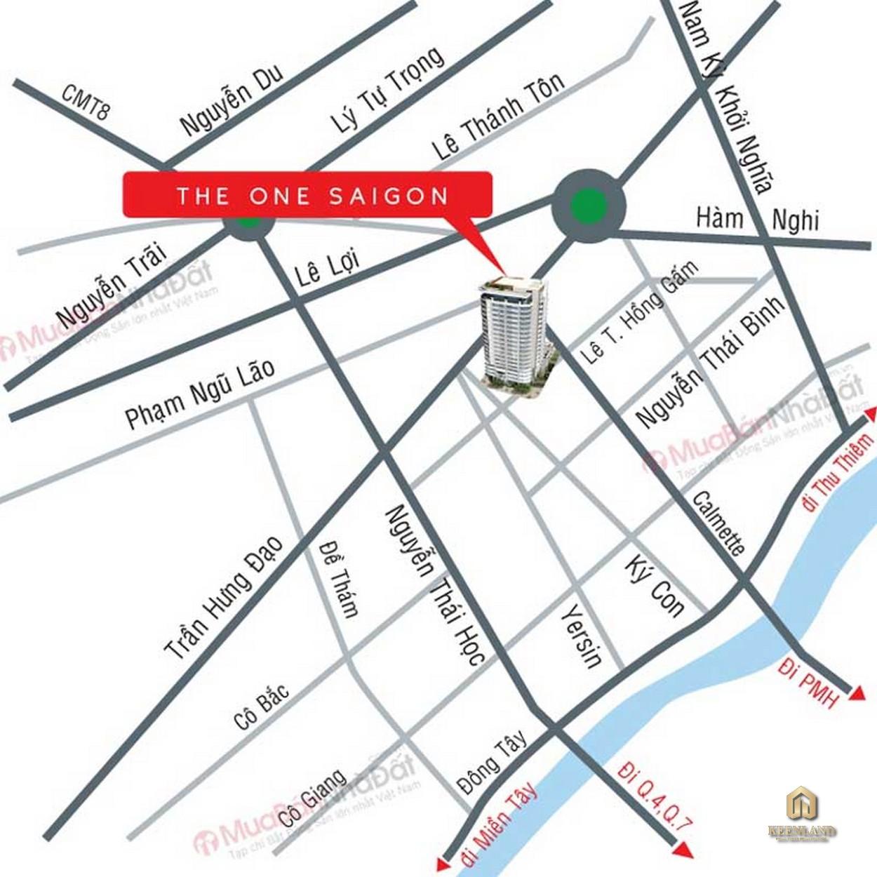 Vị trí dự án The One Saigon