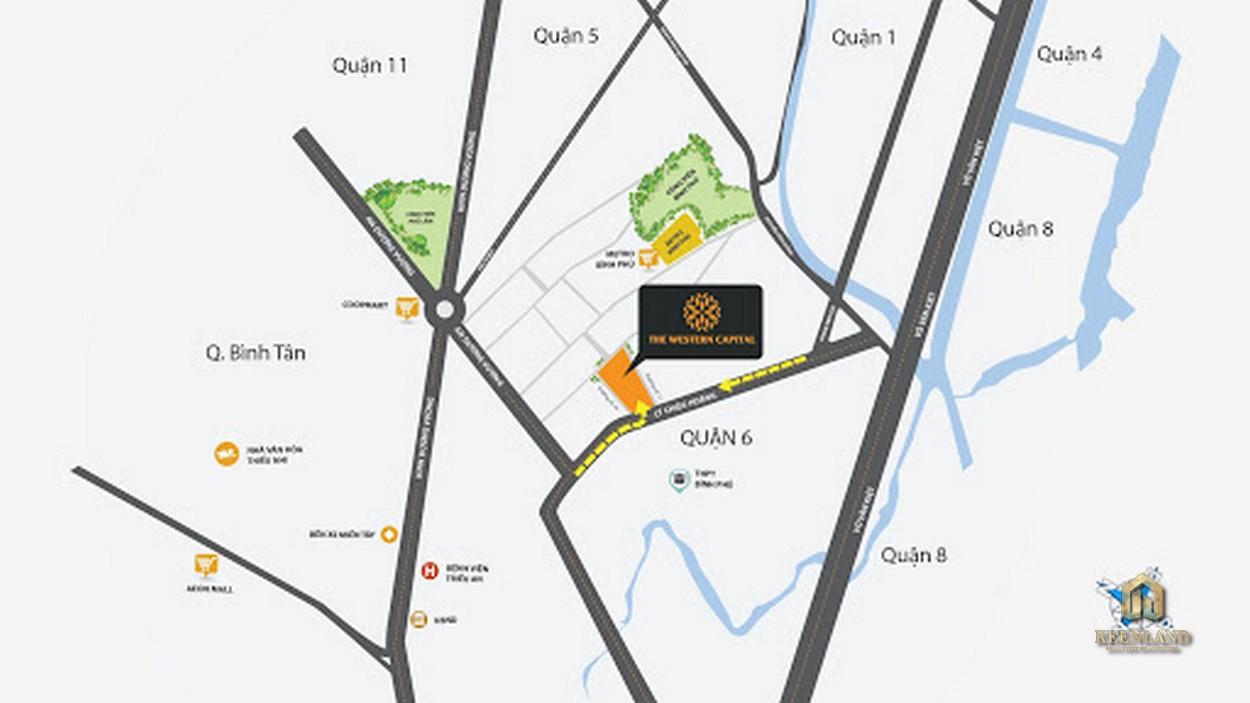 Vị trí dự án căn hộ The Western Capital