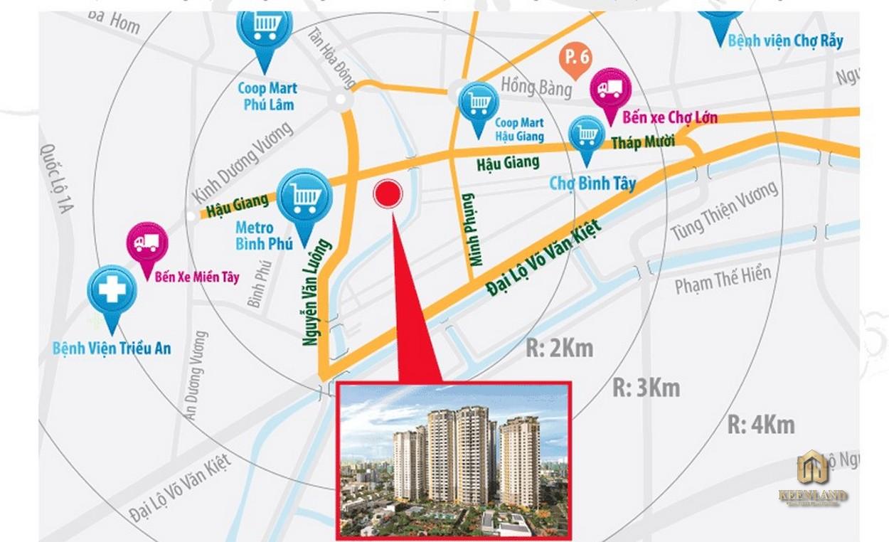Vị trí dự án Him Lam Chợ Lớn