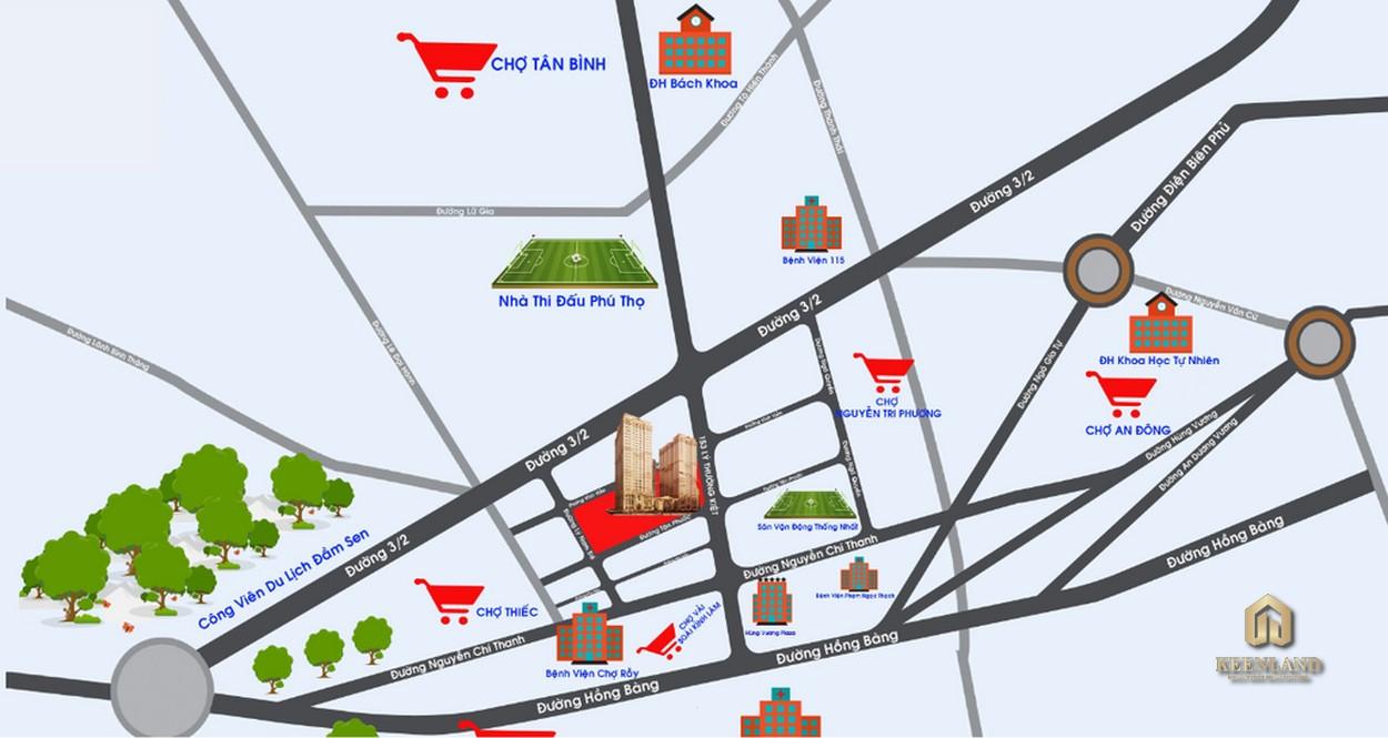 Vị trí dự án  Tân Phước Plaza
