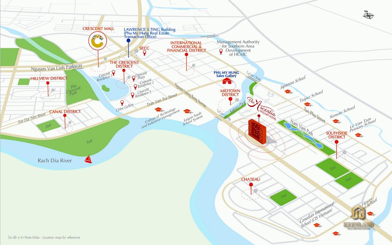 Vị trí dự án The Ascentia Quận 7