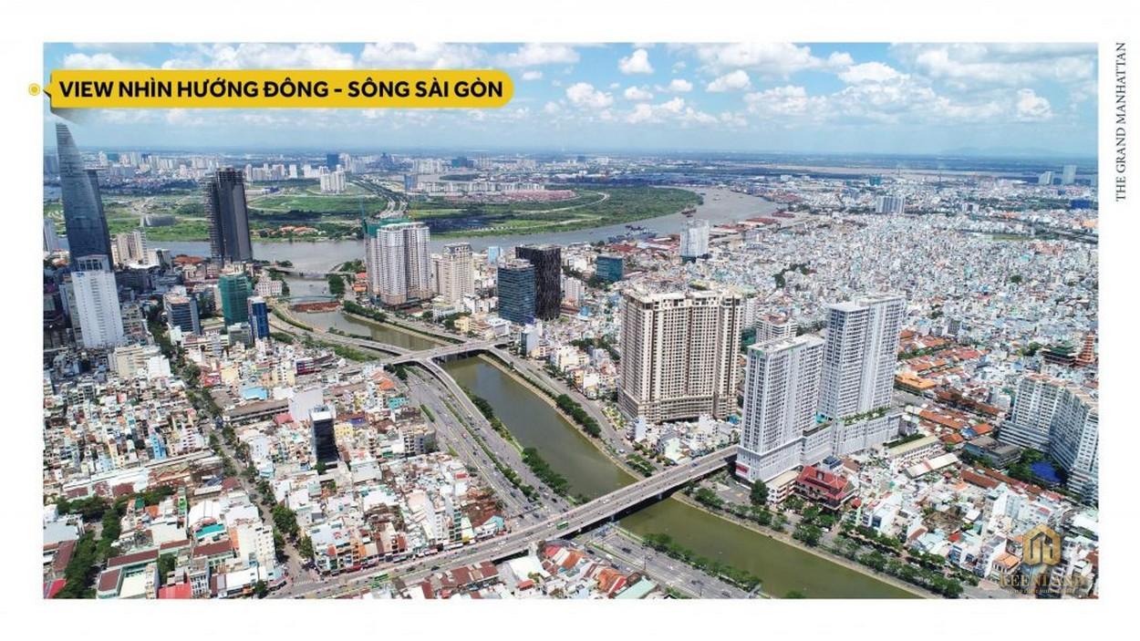 View nhìn hướng Đông Sài Gòn từ The Grand Manhattan