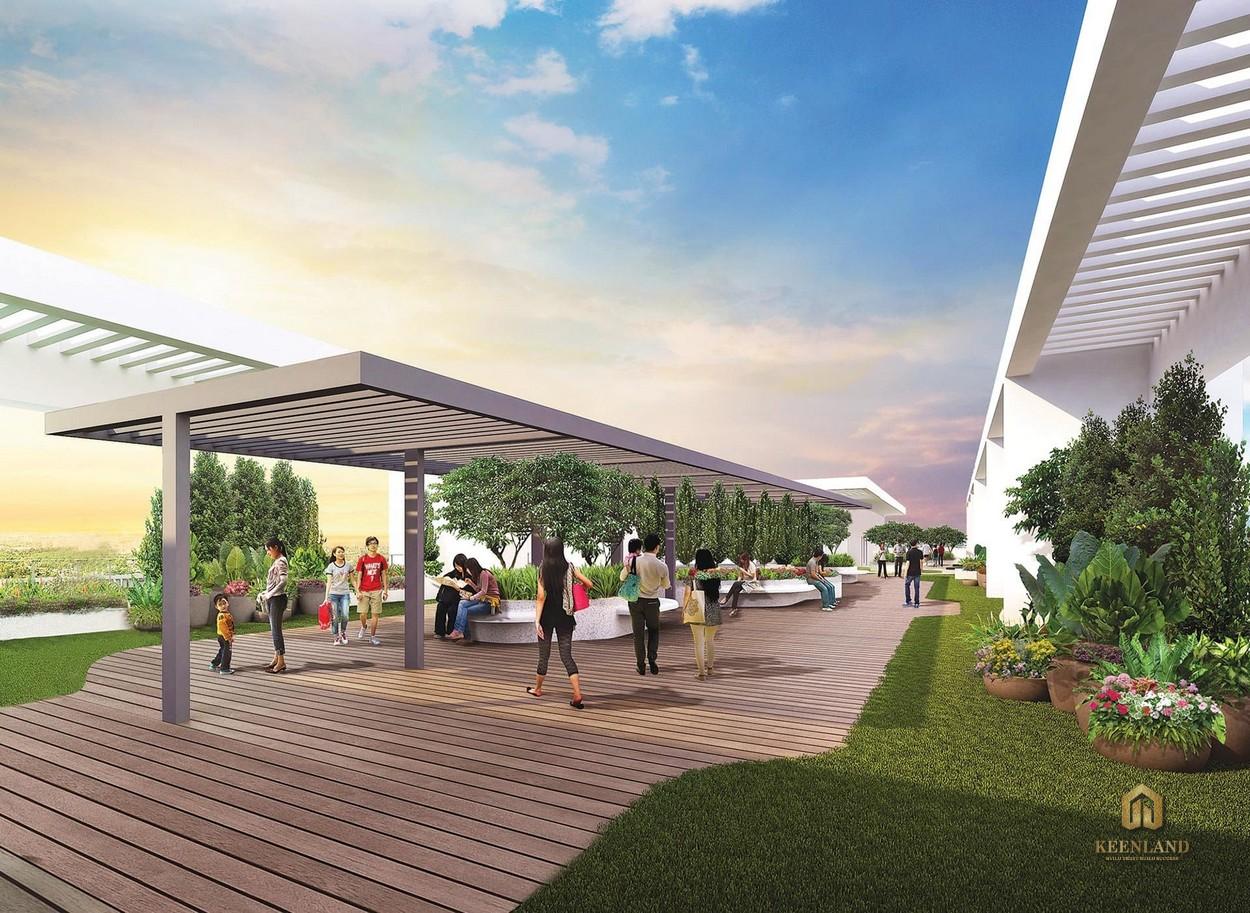 Vườn trên mái - Tiện ích nội khu dự án The Ascentia Quận 7