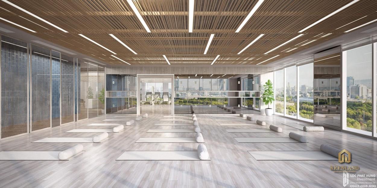 Phòng yoga tại dự án Him Lam Riverside Quận 7