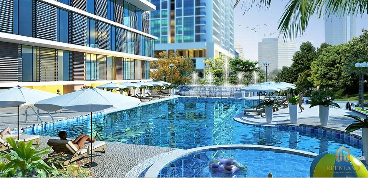 Bể bơi quy mô lớn tại dự án SaiGon Sports City quận 2