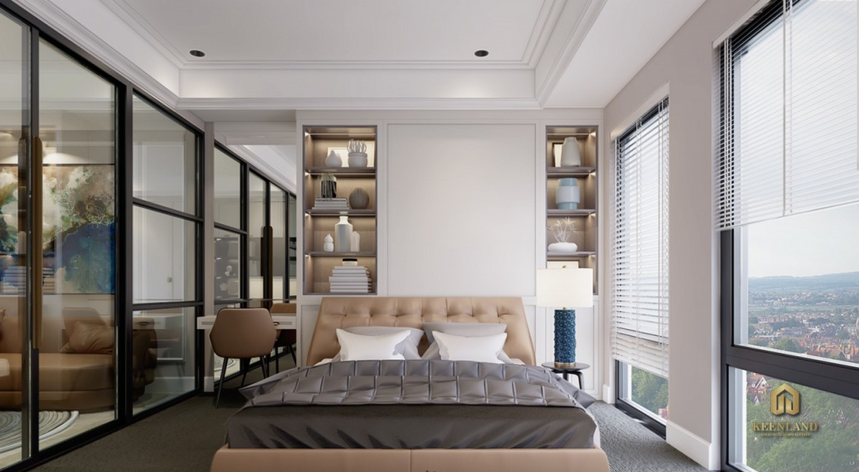 Hình ảnh thực tế phòng ngủ căn hộ mẫu Madison