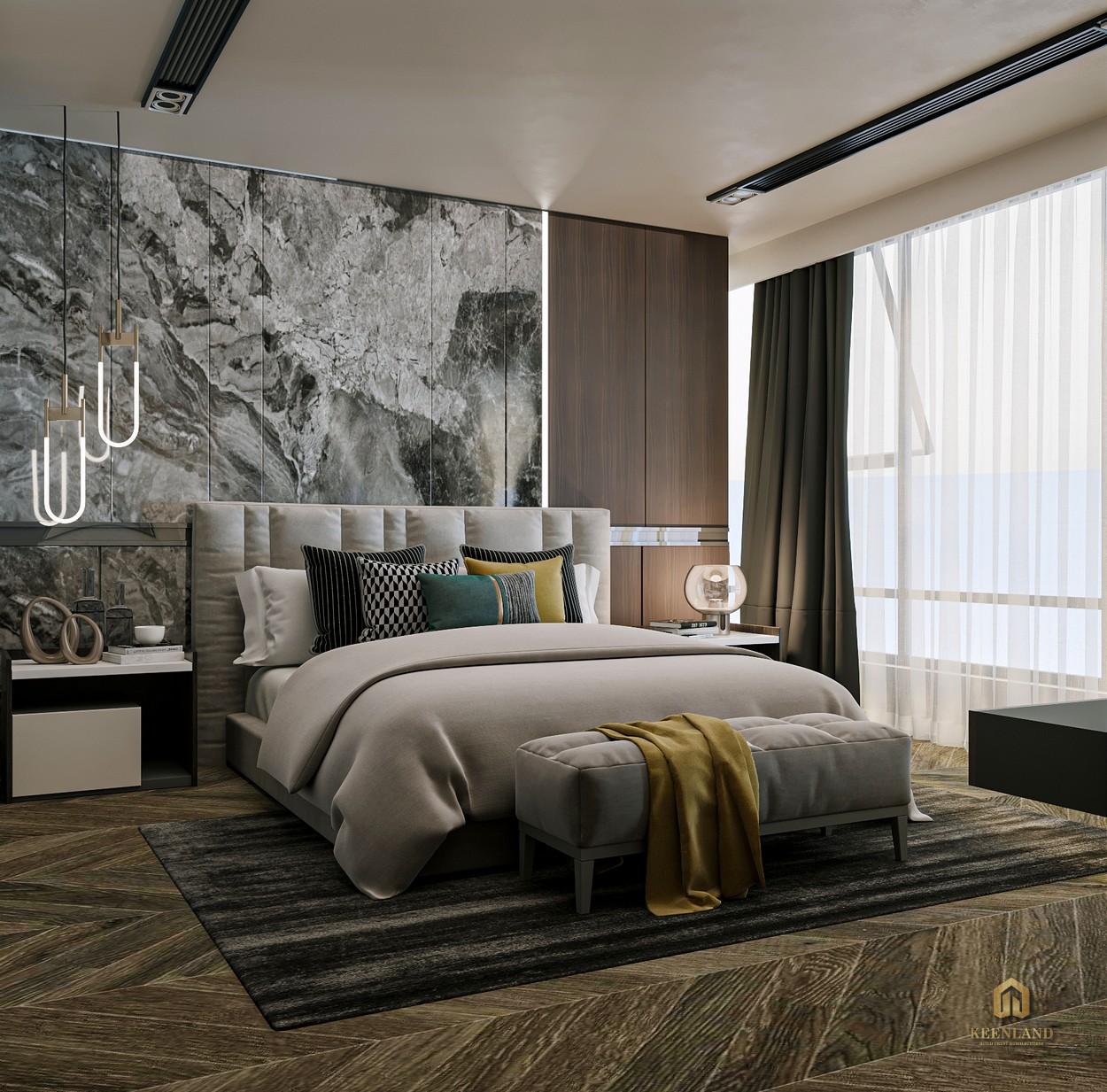 Phòng ngủ căn hộ penthouse tại Bảy Hiền Tower
