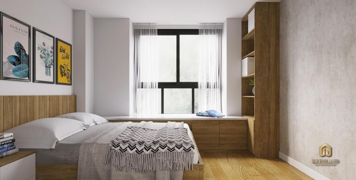 Phòng ngủ căn hộ mẫu The Harmona