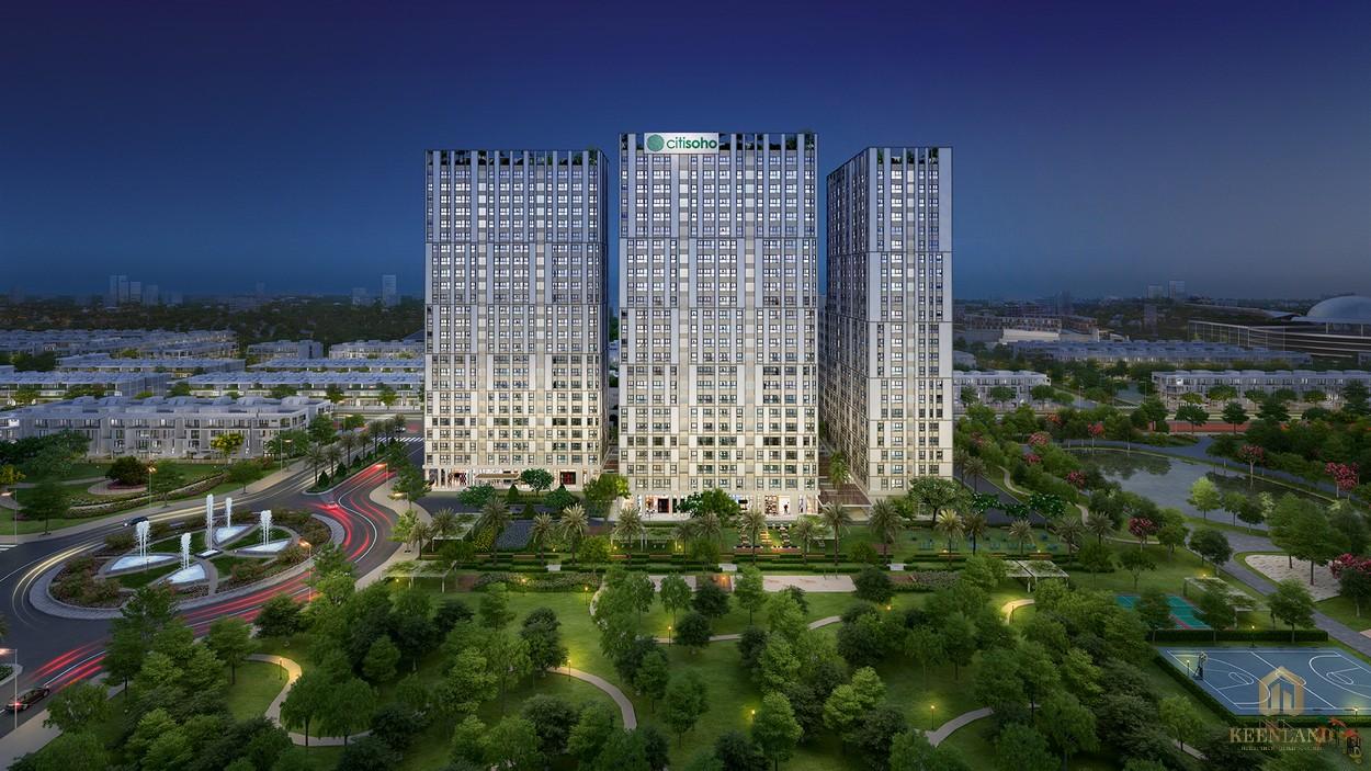 Phối cảnh dự án căn hộ Citisoho Cát Lái quận 2
