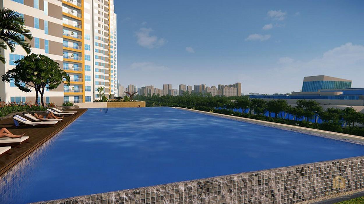 Hồ bơi trần bờ dự án căn hộ chung cư The Sun Avenue Quận 2