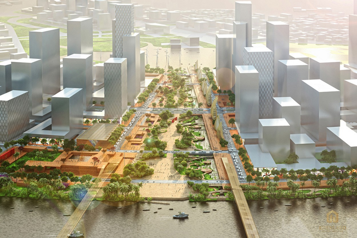 Phối cảnh dự án Eco Smart City tại Thủ Thiêm quận 2