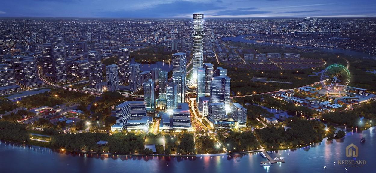 Phối cảnh dự án Empire City Thủ Thiêm về đêm