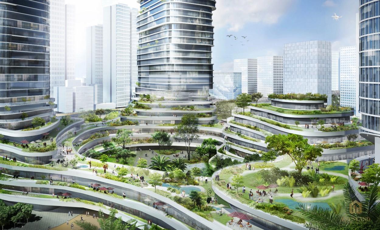 Phối cảnh dự án khu đô thị cao cấp Empire City Thủ Thiêm