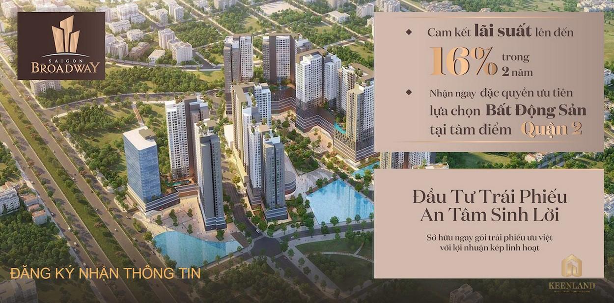 Giá bán và tiến độ giá bán của dự án Sài Gòn Broadway