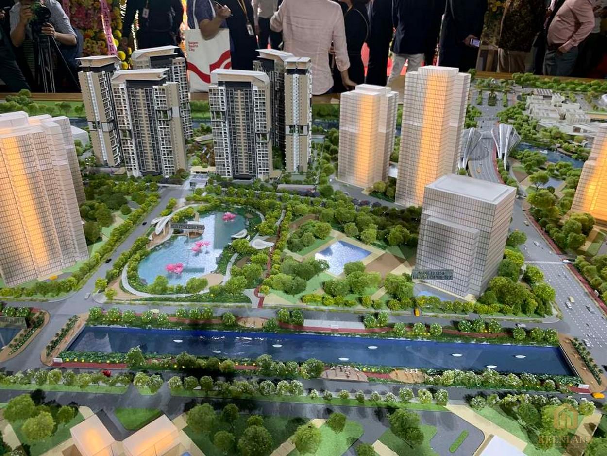 Sa bàn tổng thể dự án căn hộ SaiGon Sports City Quận 2