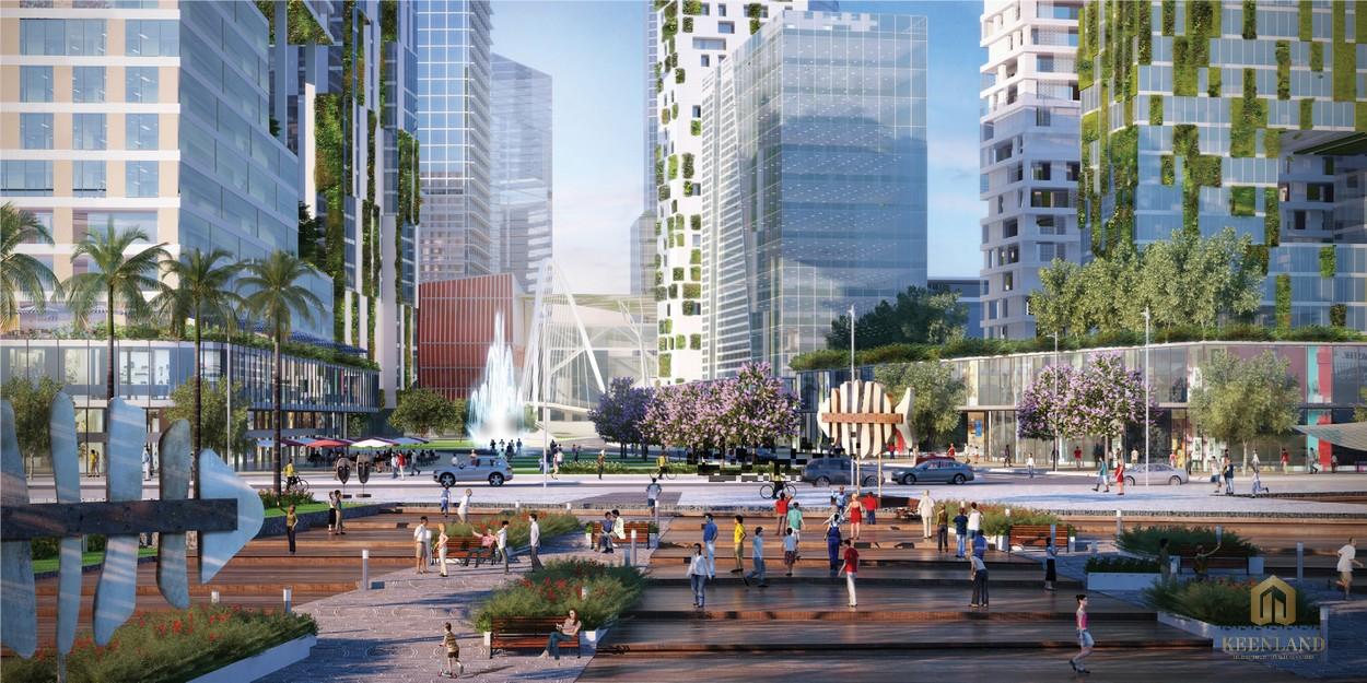 Tiện ích từ quảng trường dự án Empire City liền kề Eco Smart City