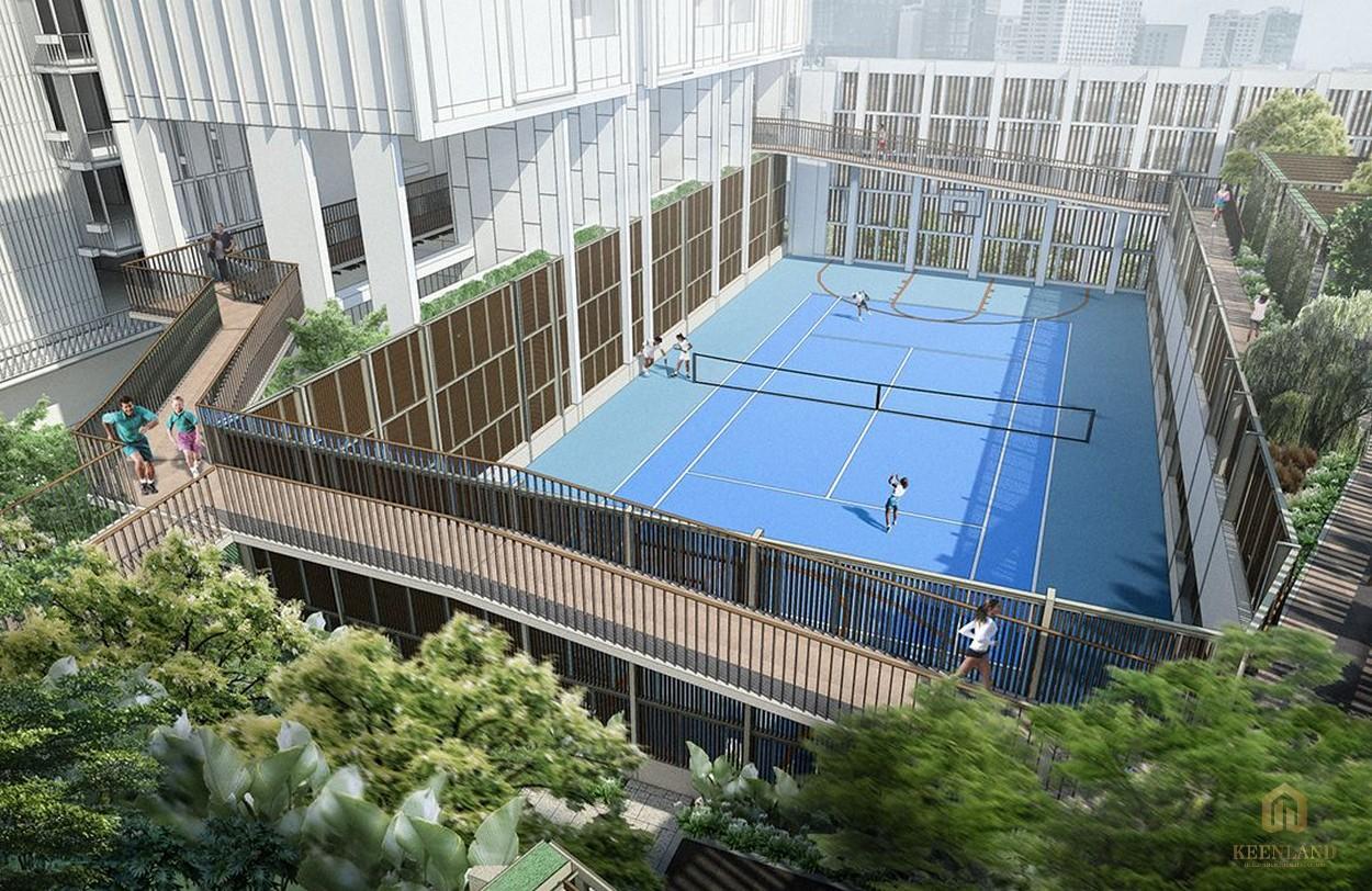 Tiện ích nội khu đẳng cắp - sân tennis tại dự án Empire City