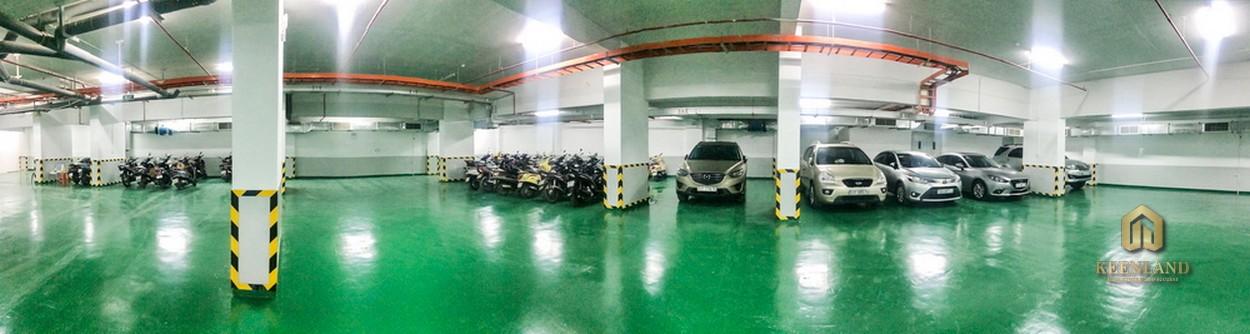 Hầm giữ xe tại tòa nhà Bảy Hiền