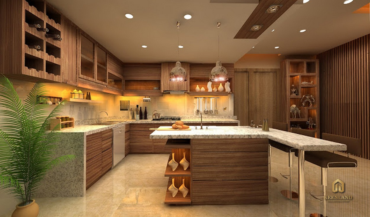 Nhà bếp căn hộ penthouse The Flemington